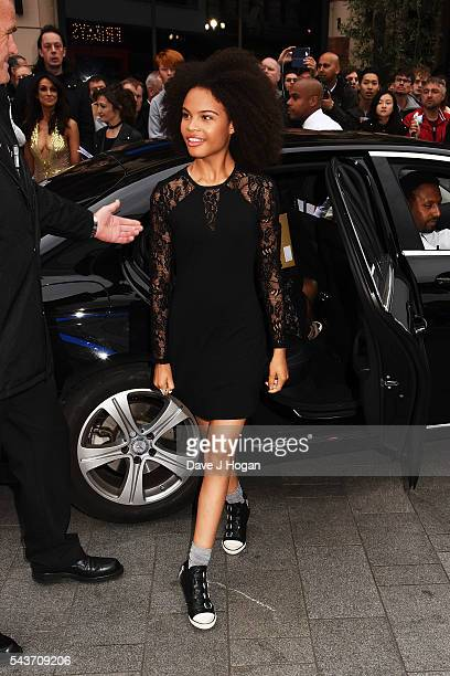 Indeyarna DonaldsonHolness attends the World Premiere of Absolutely Fabulous The Movie at Odeon Leicester Square on June 29 2016 in London England