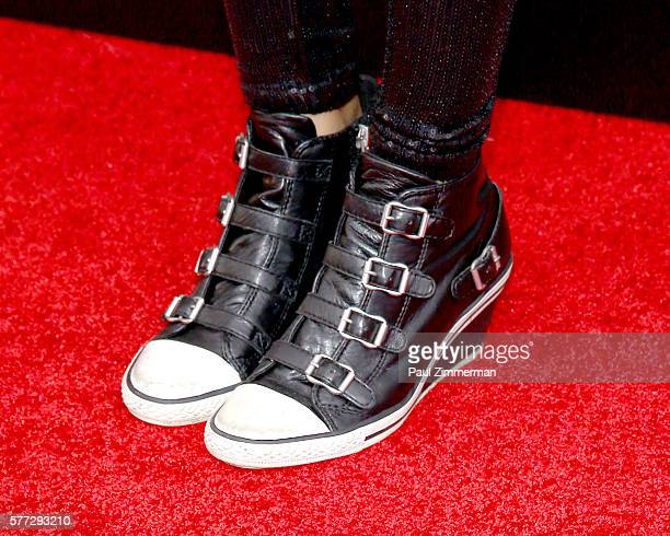 Indeyarna DonaldsonHolness shoe detail at Absolutely Fabulous The Movie New York Premiere at SVA Theater on July 18 2016 in New York City