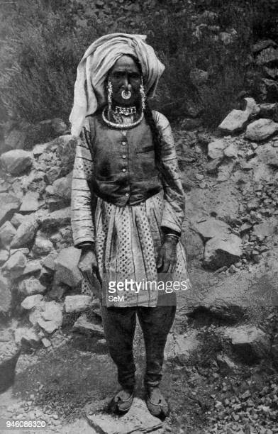 India 1900 The wrinkled careworn face of this Pahari or hillwoman speaks of a life of great hardship and the occupation of stonebreaking must strain...