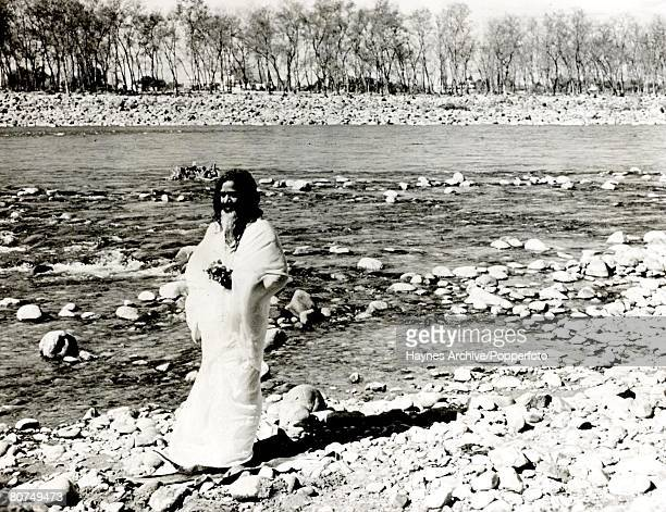 1966 India A portrait of Maharishi Yogi the admired Indian mystic of the Beatles