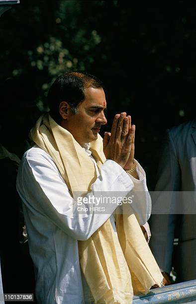 India after Indira Gandhi's death in New DelhiIndia in November1984 Rajiv Gandhi praying at the funeral urn of his assassinated mother Indira Gandhi