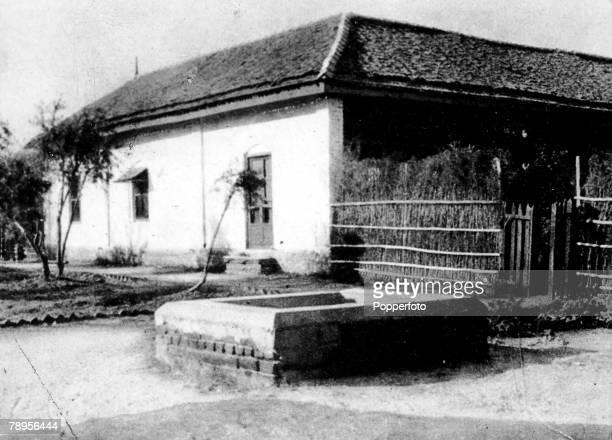 India Ahmedabad The simple home of Indian spiritual leader Mahatma Gandhi adjoining his Sabarmati ashram or spinningschool