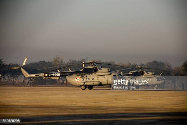 India Airforce helicopters in Delhi India