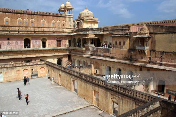 india: amber fort in amer - amber fort stock pictures, royalty-free photos & images
