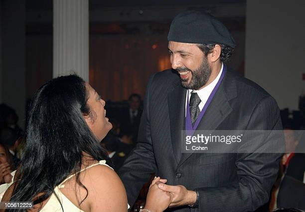 India and Juan Luis Guerra, honoree during BMI 13th Annual Latin Music Awards at Metropolitan Pavillion in New York City, New York, United States.