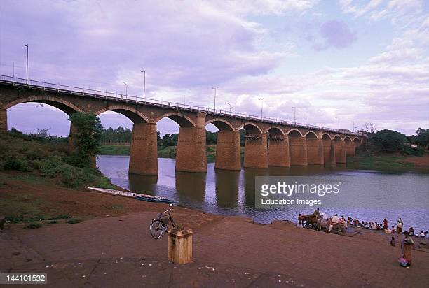 India, Andhra Pradesh, Bridge On The River Krishna.