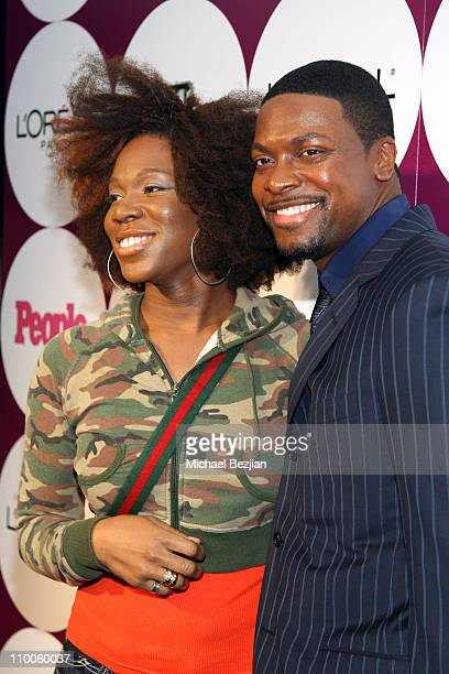 India Arie and Chris Tucker during People Magazine Post GRAMMY Party Hosted by Beyonce at ELEVEN Restaurant and Nightclub in West Hollywood...