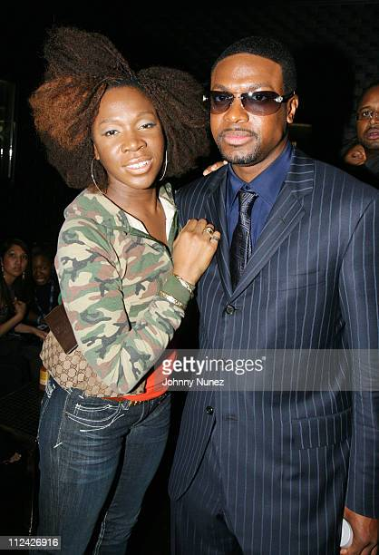 India Arie and Chris Tucker during XM Satellite Radio Salutes Ludacris at Post Grammy Party Hosted by Queen Latifah Inside at Social in Hollywood...