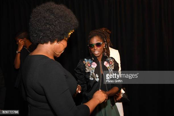 India Arie and Rutina Wesley attend Black Girls Rock 2017 at NJPAC on August 5 2017 in Newark New Jersey