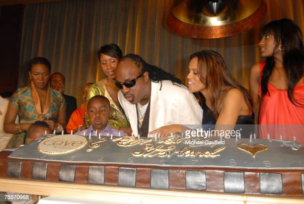 India Arie Kailand Morris Miles Morris Aisha Morris Stevie Wonder Kai MillaMorris and Sophia Morris Stevie Wonder joined resort magnate Sol Kerzner...