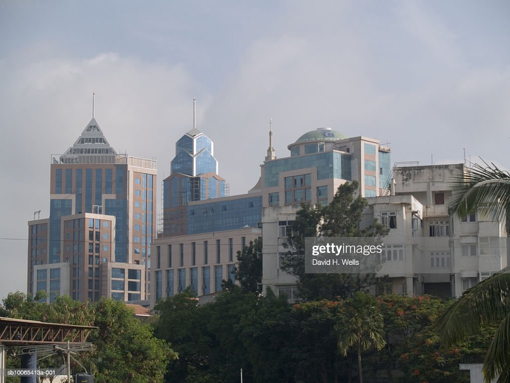 India, Bangalore, buildings on MG Road : Foto stock
