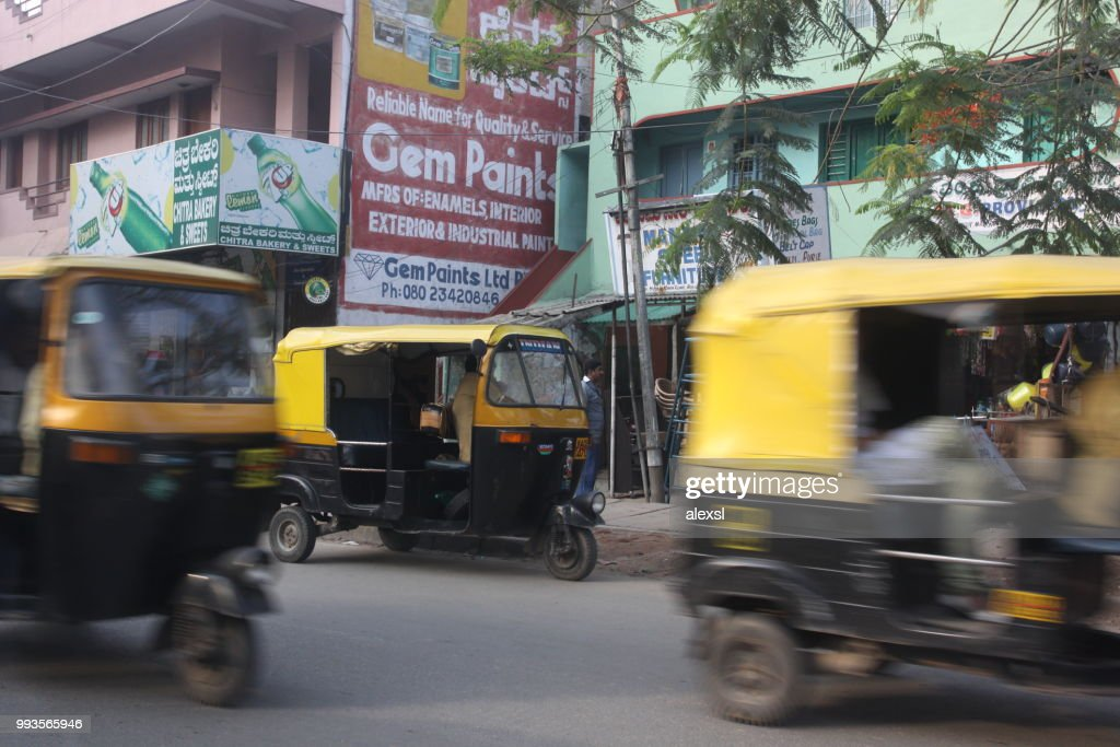 India Bangalore City Street Traffic Jam Rush Hour Stock Photo