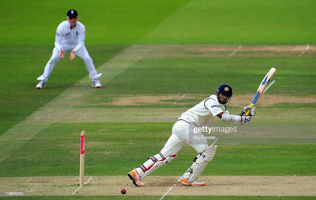 England v India: 1st npower Test - Day Three : News Photo