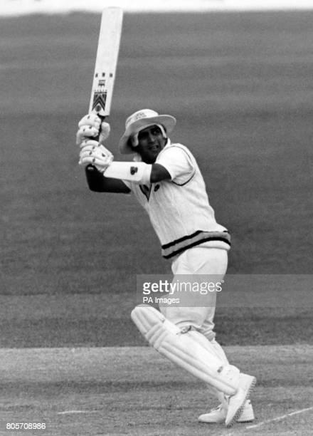 India batsman Sunil Gavaskar in action