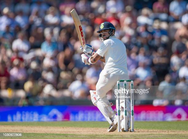 India Captain Virat Kohli batting during the 4th Specsavers Test Match between England and India at The Ageas Bowl on September 2 2018 in Southampton...