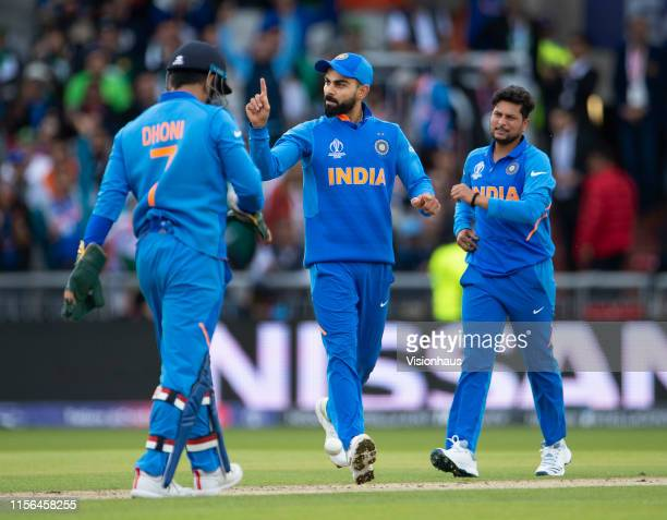 India captain Virat Kohli during the Group Stage match of the ICC Cricket World Cup 2019 between Pakistan and India at Old Trafford on June 16, 2019...
