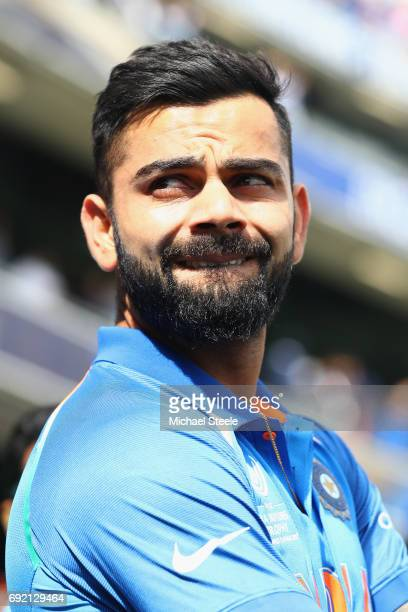 India captain Virat Kohli during the ICC Champions Trophy match between India and Pakistan at Edgbaston on June 4 2017 in Birmingham England