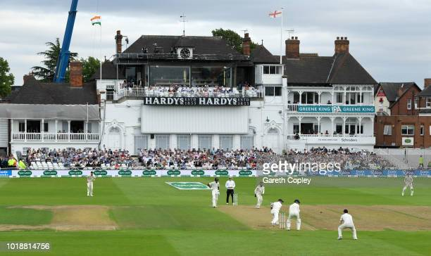 India captain Virat Kohli is caught out by Ben Stokes from the bowling of Adil Rashid of England during the Specsavers 3rd Test match between England...