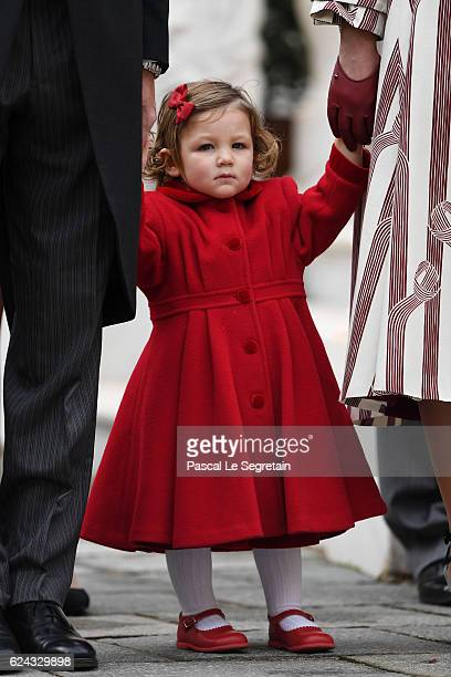India Casiraghi attends the Monaco National Day Celebrations in the Monaco Palace Courtyard on November 19 2016 in Monaco Monaco