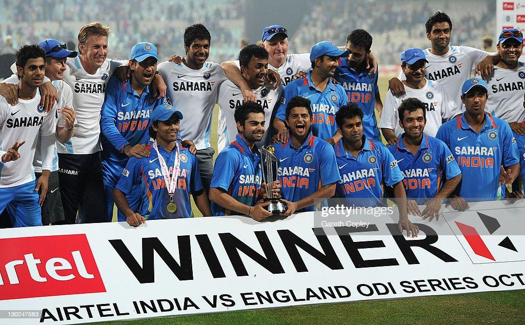 India v England - 5th One Day International : News Photo