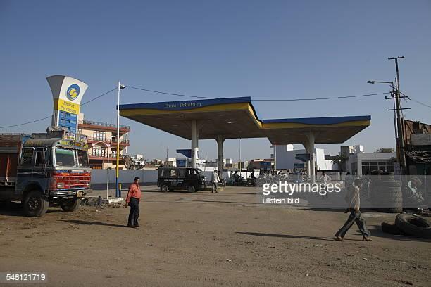 India Delhi New Delhi - fuel station Bharat Petroleum