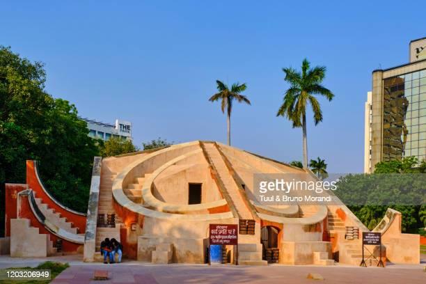 india, delhi, new delhi, jantar mantar, astronomical observatory - ジャンタルマンタル ストックフォトと画像