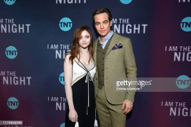 India Eisley and Chris Pine attends the I Am The Night Los Angeles Premiere on January 24 2019 in Los Angeles California 484213