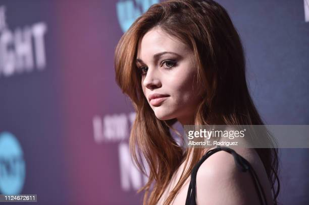 India Eisley attends the premiere of TNT's I Am The Night at Harmony Gold on January 24 2019 in Los Angeles California