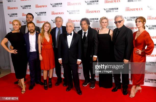 India Ennenga Stephen Graham Hannah Walters Robert de Niro Al Pacino Martin Scorsese Anna Paquin Harvey Keitel and Welker White attend The Irishman...