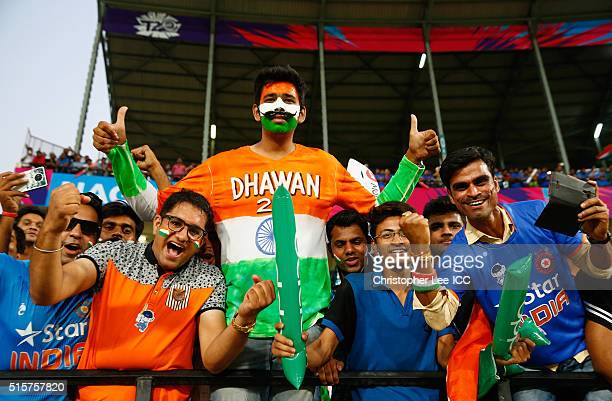 India fans during the ICC World Twenty20 India 2016 Group 2 match between New Zealand and India at the Vidarbha Cricket Association Stadium on March...