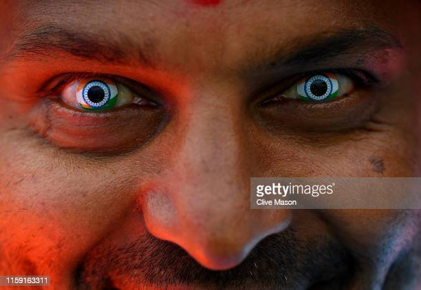 India fans look on ahead of the Group Stage match of the ICC Cricket World Cup 2019 between England and India at Edgbaston on June 30 2019 in...
