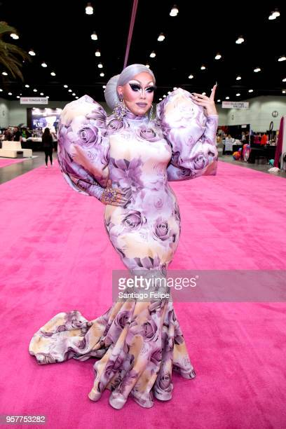 India Ferrah attends the 4th Annual RuPaul's DragCon at Los Angeles Convention Center on May 12 2018 in Los Angeles California