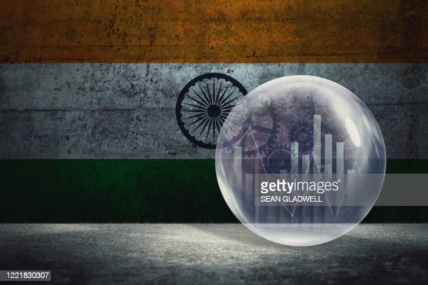 india financial bubble - india stock pictures, royalty-free photos & images