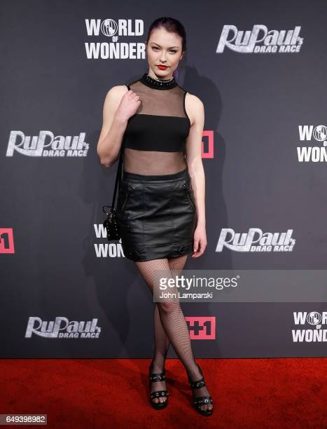 India Gants attends 'RuPaul's Drag Race' season 9 premiere party meet The Queens Event at PlayStation Theater on March 7 2017 in New York City