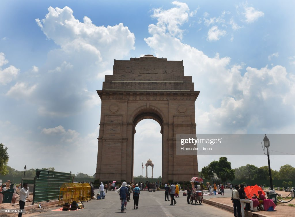 India Gate On A Cloudy Day