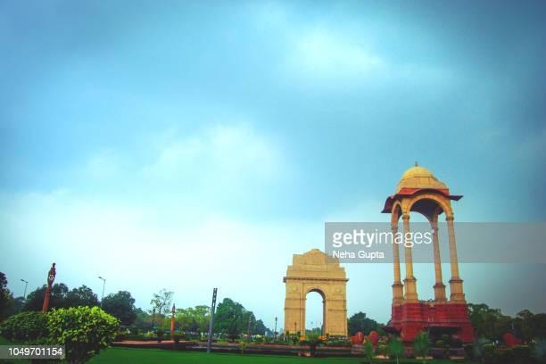 India Gate During Monsoon Season - New Delhi, India.