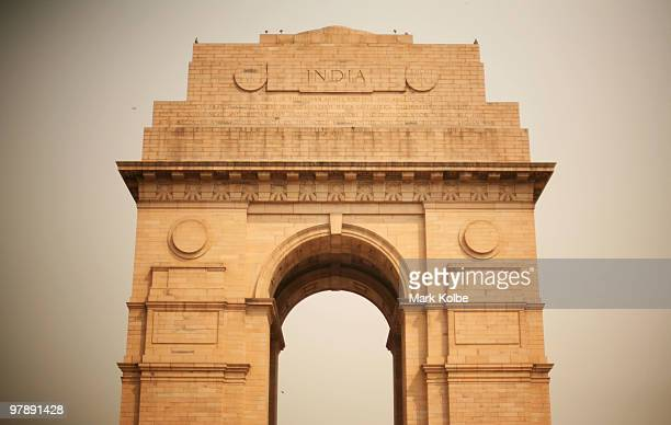 India Gate is seen on March 18 2010 in Delhi India The memorial was erected to honour Indian soldiers who lost their lives in the Afghan wars and...