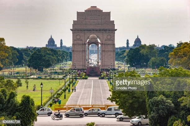 india gate, new delhi, india, asia - india gate delhi stock pictures, royalty-free photos & images