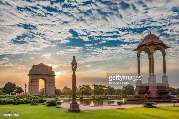 india gate, new delhi, india, asia - new delhi stock pictures, royalty-free photos & images