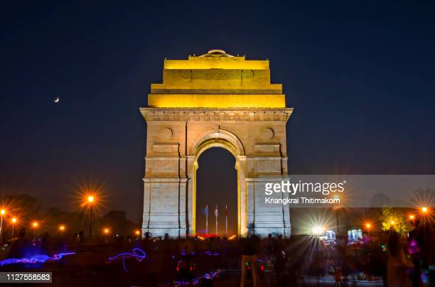 india gate, new delhi, india. - india gate delhi stock pictures, royalty-free photos & images