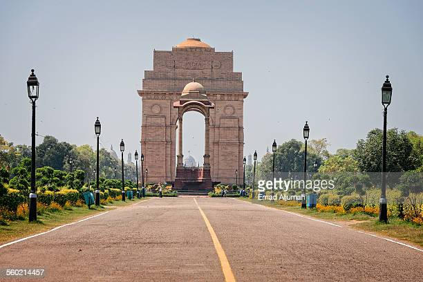 india gate, new delhi, india - delhi stock pictures, royalty-free photos & images