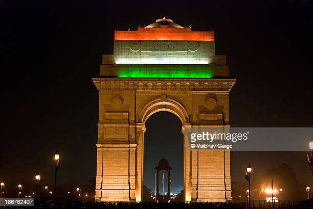 india gate - indian flag stock pictures, royalty-free photos & images
