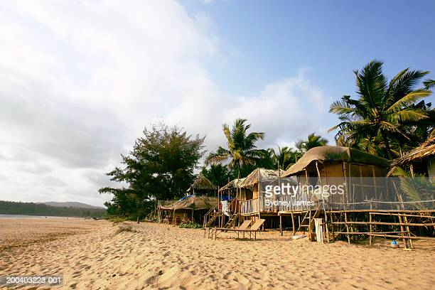 India, Goa, beach huts on Agonda Beach