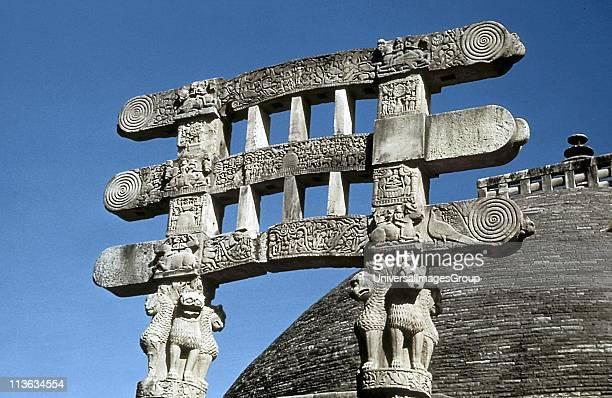 India Great Stupa at Sanchi 7550 BC south gate architraves
