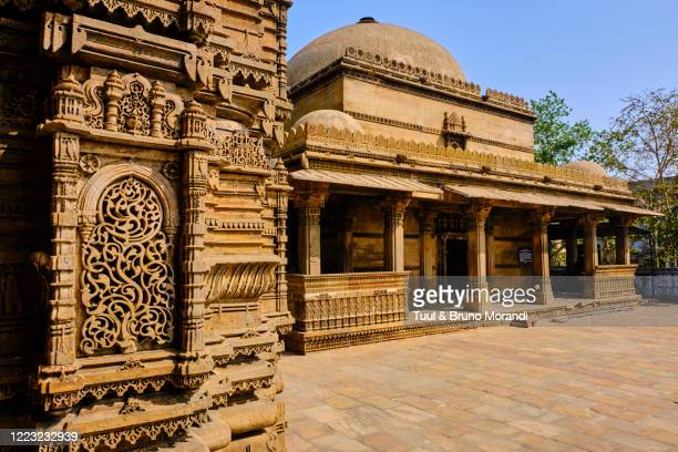 india, gujarat, ahmedabad, hazrat harir mosque - ahmedabad stock pictures, royalty-free photos & images