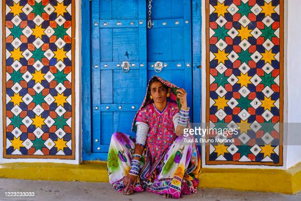 india, gujarat, kutch, meghwal ethnic group - gujarat stock pictures, royalty-free photos & images