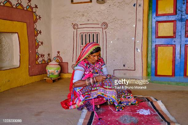 india, gujarat, kutch, meghwal ethnic group - minority groups stock pictures, royalty-free photos & images