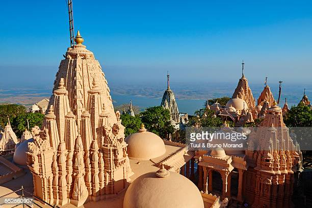 india, gujarat, palitana, shatrunjaya temple - palitana stock photos and pictures