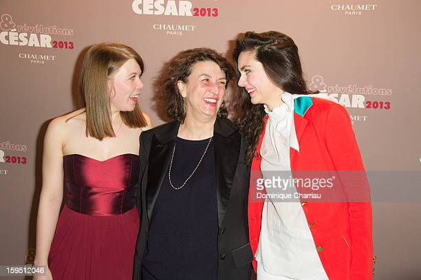 India Hair Noemie Lvovsky and Julia Faure attend the 'Cesar's Revelations 2013' Dinner Arrivals at Le Meurice on January 14 2013 in Paris France