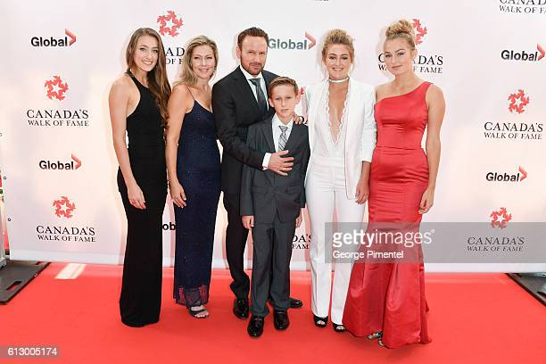 India Hart Julie Hart Corey Hart Rain Hart River Hart and Dante Hart attend the 2016 Canada's Walk Of Fame Awards at Allstream Centre on October 6...
